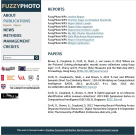FuzzyPhoto publications page